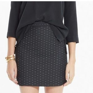 Madewell shirttail skirt in nightfall jacquard
